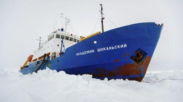 Antarctica Icebound Ship