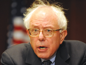 Bernie Sanders hair raising