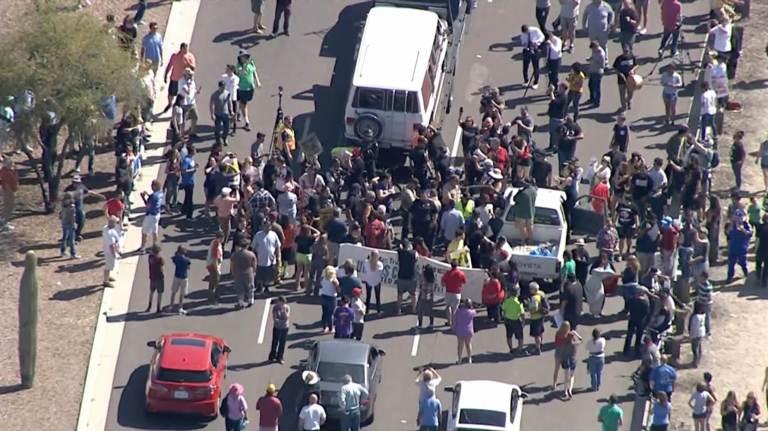 Arizona Highway Blockade