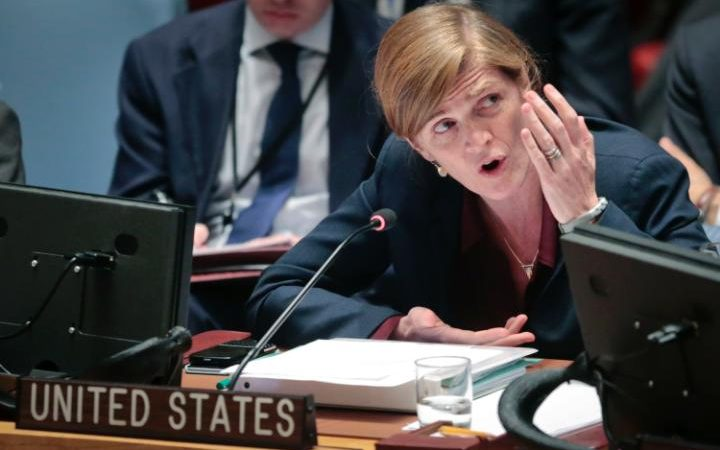 US ambassador Samantha Power has already protested the decision CREDIT: AP