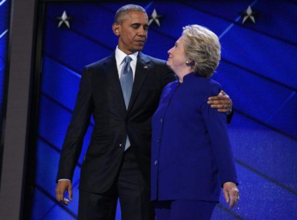 Hillary with Obama