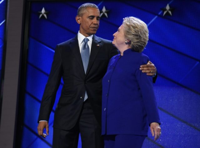 Hillary with Obama