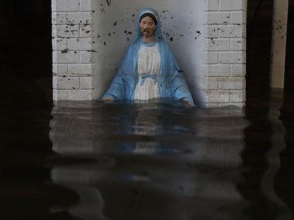 Mary Statue Underwater