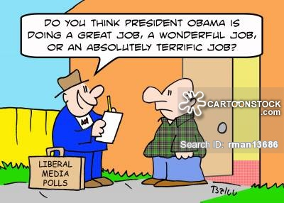 LIBERAL MEDIA POLLS, 'Do you think President Obama is doing a great job, a wonderful job, or an absolutely terrific job?'