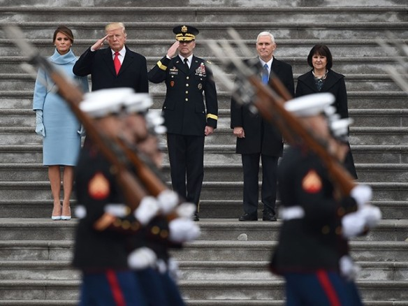 donald-trump-melania-trump-mike-pence-karen-pence-parade-jan-20-2017-getty