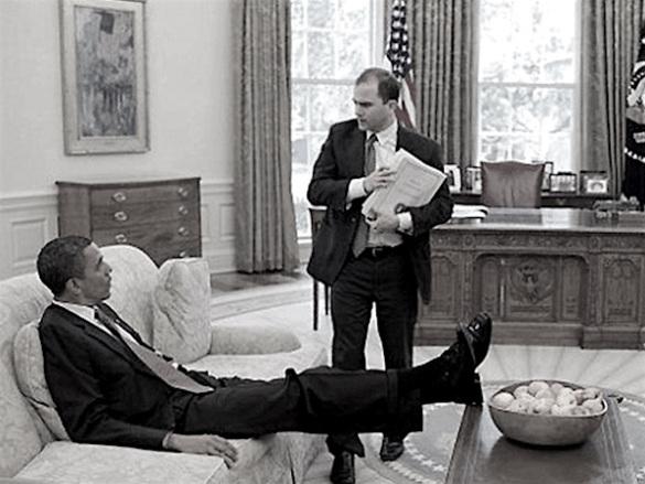 Obama and Ben Rhodes